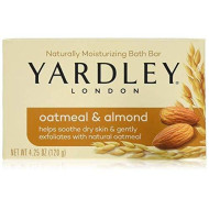 Yardley London Soap Bath Bar, Oatmeal And Almond With Naturally Moisturising, 4.25 Oz (120G) - Pack Of 4