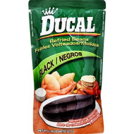 Ducal Refried Black Beans Pouch, 8 Ounce (Pack Of 24)
