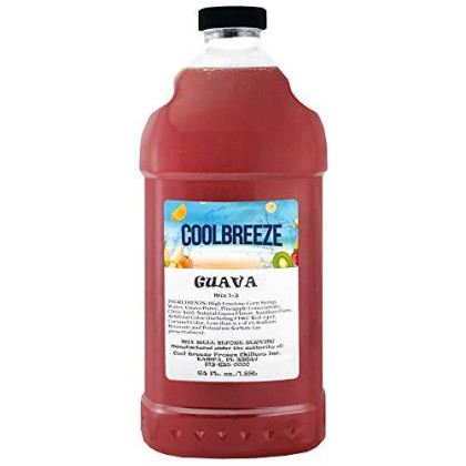 Cool Breeze Beverages Ready To Use Slush Mix, Guava, 1/2 Gal