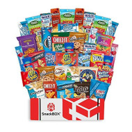 Care Package Snacks for College Students, Finals, Snack Packs, Office, Fathers Day, Deployment, Military and Gift Ideas - Including Over 3 lbs of Chips, Cookies and Candy! (40 Count)