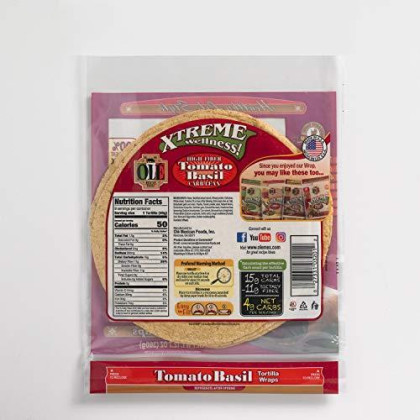 """Ole Xtreme Wellness Tomato & Basil Flour Tortillas 