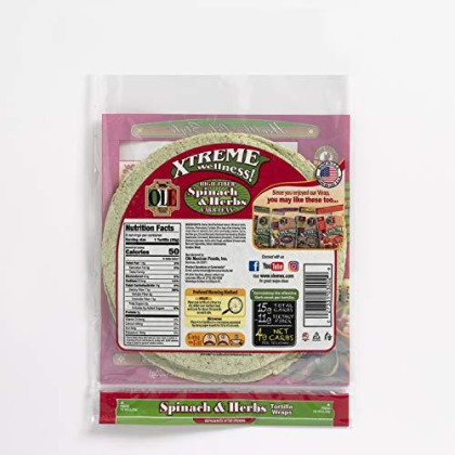 """Ole Xtreme Wellness Spinach & Herbs Flour Tortilla Wraps 
