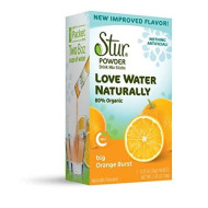 Stur Drinks -Orange Burst, Natural Powder Drink Mix, 42 Sticks, Makes 84 Servings, Made With Organic Cane Sugar, Stevia, And Natural Flavors, Contains High Antioxidant Vitamin C