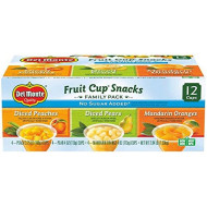 Del Monte No Sugar Added Fruit Cup Variety Pack (Peaches, Pears, Mandarin Oranges) - 4-Ounce (Pack Of 12)