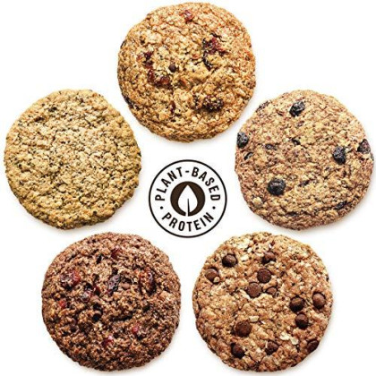 Kakookies Assortment (Box of 48 Cookies), Energy Snack with Plant-Based Protein, Whole Grain Oats, Vegan, Gluten-Free, Dairy-Free, Soy-Free, Soft Baked