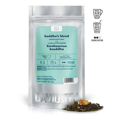 Davidstea Buddha'S Blend Loose Leaf Tea, Premium Relaxing White And Green Tea Scented With Jasmine, 2 Oz