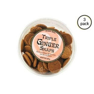 Trader Joe'S Triple Ginger Snaps - 3 Pack (14 Oz Tubs)