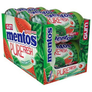 Mentos Pure Fresh Sugar-Free Chewing Gum With Xylitol, Watermelon, Valentines Day Gifts, Bulk, 50 Piece Bottle (Pack Of 6)