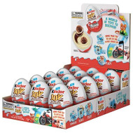 Kinder JOY Eggs, 15 Count Individually Wrapped Bulk Chocolate Candy Eggs With Toys Inside, Perfect Surprise Halloween Treats for Kids, 10.5 oz; PACKAGING MAY VARY