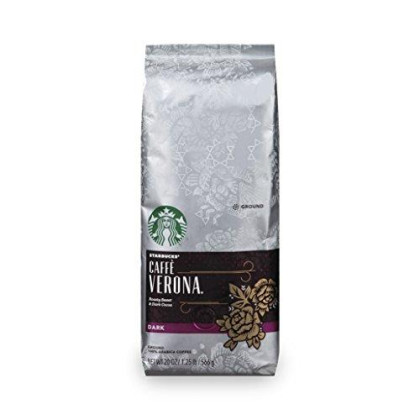 Starbucks Caffe Verona Dark Roast Coffee, Ground, 20 Ounce Bag
