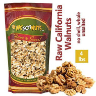We Got Nuts California Raw Walnuts - 100% All Natural Shelled Halves And Pieces (4Lb)