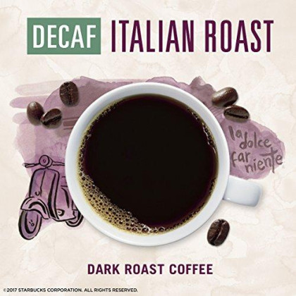Starbucks Via Instant Decaf Italian Roast Dark Roast Coffee, 50 Count (Pack Of 1)