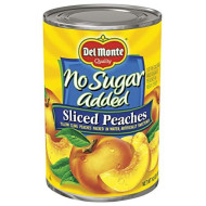 Del Monte Canned Yellow Cling Sliced Peaches, No Sugar Added, 14.5-Ounce Cans (Pack of 12)
