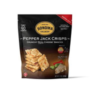 Sonoma Creamery Cheese Crisps - Pepper Jack Savory Cheese Cracker Snack High Protein Low Carb Gluten Free Wheat Free 10 Ounce (1 Count)