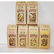 Tarallini Mixed Pack Of 6 ( Classic, Fennel Seeds, Calzone, Lemon And Pepper, Rosemary, Cheese And Pepper)