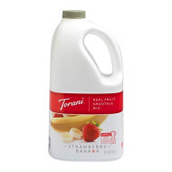 Torani Real Fruit Smoothie Mix, Strawberry Banana, 64 Ounce