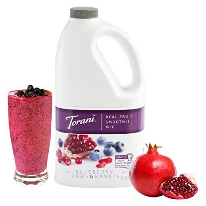 Torani Real Fruit Pomegranate Smoothie Mixes, Blueberry, 64 Ounce