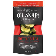 Oh Snap! Pickling Co., Hottie Bites Hot N' Spicy Pickle Snacking Cuts, 3.25 Oz. (12 Count)