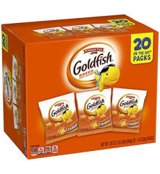 Pepperidge Farm Goldfish Cheddar Crackers, 1 Ounce Bags, 20 Count