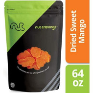 Nut Cravings Dried Mango Slices (4 Pounds) - Sweet, Healthy Dehydrated Fruit Snacks - 64 Ounce