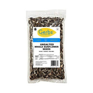 Gerbs Unsalted Whole Sunflower Seeds, 1 Lb. - Top 14 Food Allergy Free & Non Gmo - Vegan, Keto Safe & Kosher - Grown In United States
