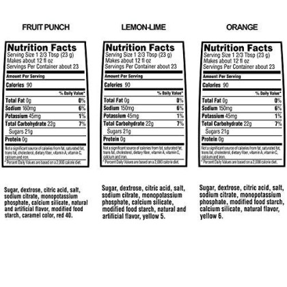 Gatorade Thirst Quencher Powder Variety Pack, 18.3 Ounce, 4 Canisters