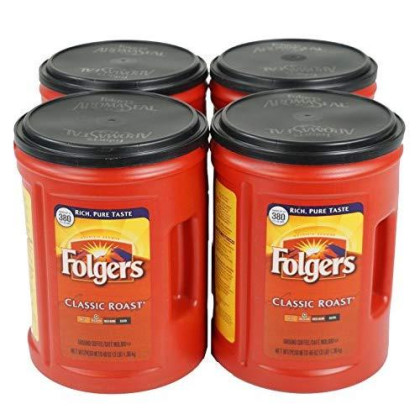 Folgers 4-Pack Of 48 Ounce Canisters, Classic Medium Roast Coffee