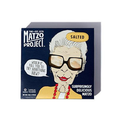 Salted Matzo From The Matzo Project, Kosher, Vegan, Nut-Free, No Added Sugar, No Trans Fat, Nothing Artificial, 6Oz, Pack Of 3
