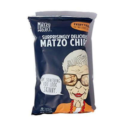 Matzo Chips, Variety Pack Of Large Bags (Everything, Salted, Cinnamon Sugared) From The Matzo Project, Kosher, Vegan, Nut-Free, No Trans Fat, Nothing Artificial, 6Oz, Pack Of 3