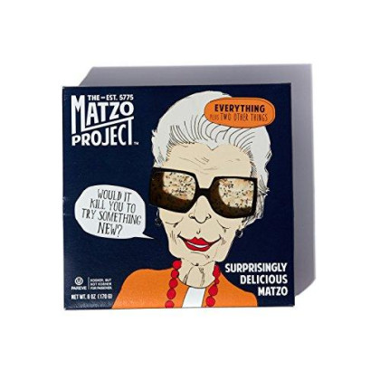 Everything Matzo From The Matzo Project, Kosher, Vegan, Nut-Free, No Added Sugar, No Trans Fat, Nothing Artificial, 6Oz, Pack Of 3