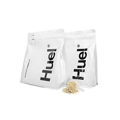 Huel Vanilla Flavor Nutritionally Complete Food Powder - 100% Vegan Powdered Meal (2 Pouches - 7.7Lb - 28 Meals)