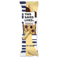 THIS SAVES LIVES Chewy Granola Bars | Gluten Free Snacks Breakfast Bars, Kosher, Non GMO Snack Bar for Adults & Kids | 1.4 oz Bars (Dark Chocolate Peanut Butter | 12 Bars)