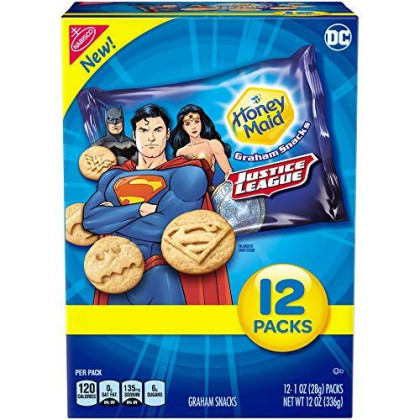 Honey Maid Graham Snacks, Justice League, 12 Ct, 12.0 Oz