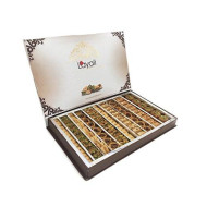 Baklava Assortment Gift Box (26.5 oz),Gift Basket,Petite Gourmet,Best Gift For Mother Day , Layali Desserts, Nuts gift, Gift for women,Get Well Corporate Basket , baklava pastry, pistachio , cashews