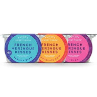 Alice'S Sweet Tooth French Meringue Kisses, Pack Of 3 , Vanilla Bean, Chocolate Chip, Cocoa