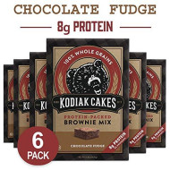Kodiak Cakes Chocolate Fudge Brownie Mix, 14.8 Ounce Boxes (Pack Of 6)