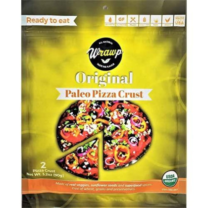 Paleo Pizza Crust   Flavored Organic Gluten Free, Dairy Free, Soy Free, Nut Free And Vegan Pizza Crust (Original, 2 Pack)