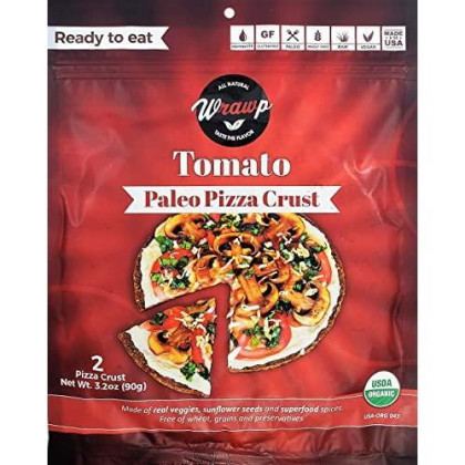 Paleo Pizza Crust | Flavored Organic Gluten Free, Dairy Free, Soy Free, Nut Free And Vegan Pizza Crust (Tomato, 2 Pack)