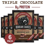 Kodiak Cakes Triple Chocolate Brownie Mix, 14.8 Ounce Boxes (Pack Of 6)