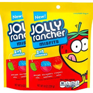 NEW Jolly Rancher Misfits 2 in 1 Gummies, 8 Ounces (2)