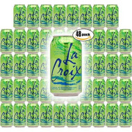 La Croix Lime Naturally Essenced Lime-Flavored Sparkling Water, 12 Oz Can (Pack Of 48, Total Of 576 Oz)