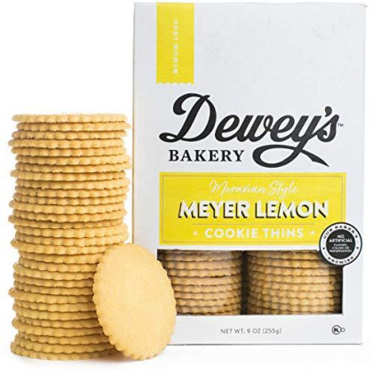Dewey'S Bakery Meyer Lemon Moravian Style Cookie Thins | Baked In Small Batches | Real, Simple Ingredients | Time-Honored Southern Bakery Recipe | 9 Oz (Pack Of 3)