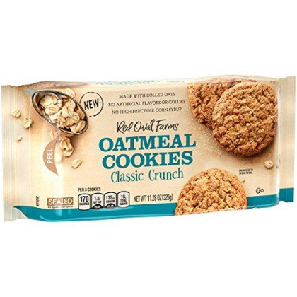 Red Oval Farms Oatmeal Cookies, Classic Crunch, 11.28 Ounce, 12 Count