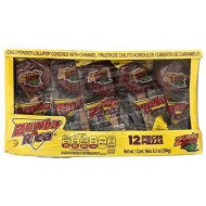 Zumba Rica Chili Powder Lollipop Covered with Caramel Paleta de Chile Agridulce Cubierta de Caramelo, 1 Box with 12 Lollipops (9.3 oz)