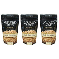 Wicked Mix Premium Seaoned Flavor Garlic Parmesan Soup And Oyster Crackers,3-Pack Of 6 Ounce Bag (Garlic Parmesan, 3-Pack)