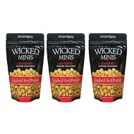 Wicked Mix Premium Seaoned Flavor Crushed Red Pepper Soup And Oyster Crackers,3-Pack Of 6 Ounce Bag (Crushed Red Pepper, 3-Pack)
