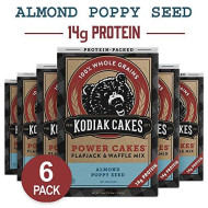 Kodiak Cakes Power Cakes Protein Pancake Flapjack And Waffle Mix, Almond Poppyseed, 18 Ounce, Pack Of 6