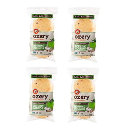 Ozery Bakery Apple Cinnamon Morning Rounds, 6-Count Bag, (Pack of 4)