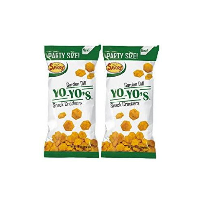 Savory Fine Foods Yo-Yo'S Seasoning Foroyster And Snack Crackers (Garden Dill, 2-Pack)