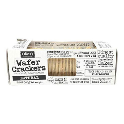 Olinas Bakehouse, Cracker Wafer Natural, 3.5 Ounce